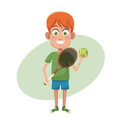 boy sport tennis image vector image