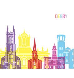 Derby skyline pop vector