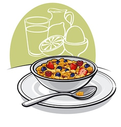 Healthy breakfast vector