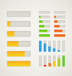 Charge bar collection vector image