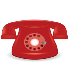 old red phone vector image