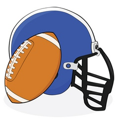 Football and helmet vector