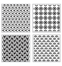 Black and white mix circle pattern vector