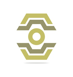 Logo abstract symbol hexa connecting icon element vector
