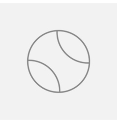 Tennis ball line icon vector