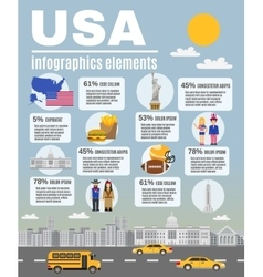 Infographic layout poster usa culture vector