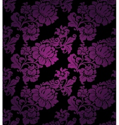 floral seamless lilac pattern vector image