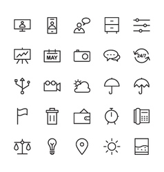Web and user interface outline icons 10 vector