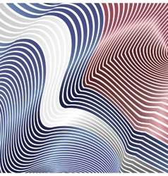 Abstract curved lines in the form of waves modern vector