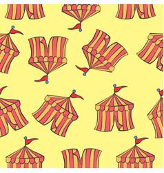 background tent circus pattern style vector image vector image