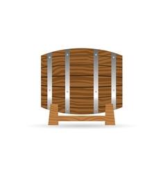 Barrel icon wooden in brown vector