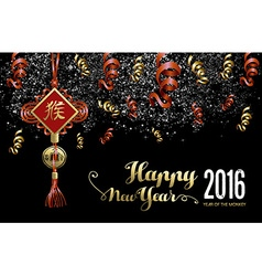 Chinese new year 2016 decoration firework night vector image