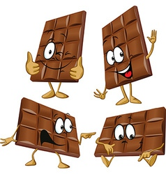 chocolate cartoon with hand gesturing vector image vector image