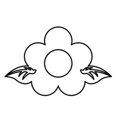 Cute flower garden isolated icon vector