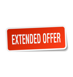 Extended offer square sticker on white vector