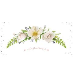 flower bouquet design object element light pink vector image vector image