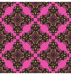 Flower pattern seamless ethnic colorful vector image