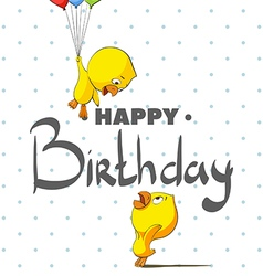 Funky chickens happy birthday vector