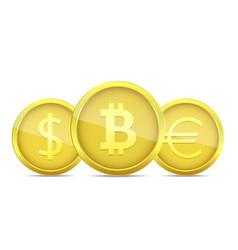 golden money coin vector image vector image