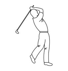 Golfer icon outline style vector