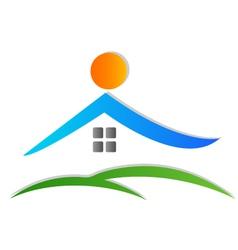 House icon logo vector image vector image