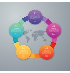 infographic five options vector image vector image