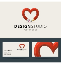 Logotype and business card template for design vector image vector image