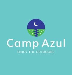 Moon camp recreation outdoors logo vector