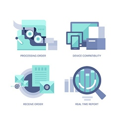 Processing Online Order vector image vector image