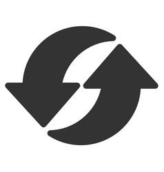 refresh flat icon vector image vector image