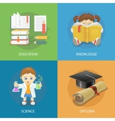 School design concept set with education diploma vector image