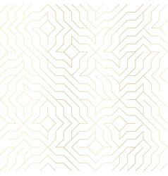 seamless geometric golden line pattern vector image vector image