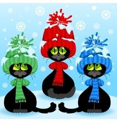 Set curious cats vector