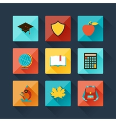 Set of education icons in flat design style vector image vector image