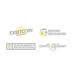 Unique retro vintage digital money and bitcoin vector