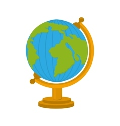 world map cartoon school isolated vector image