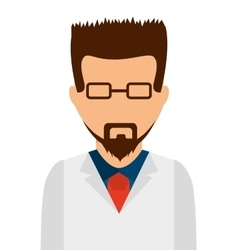 Doctor science isolated icon vector