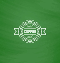 Coffee label computer symbol vector