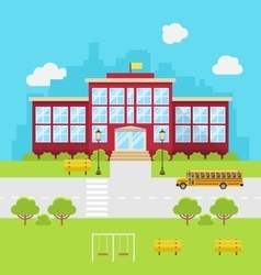 School building background for back to school vector