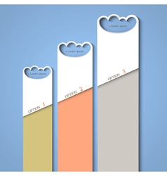 Progress background of stylized clouds vector image