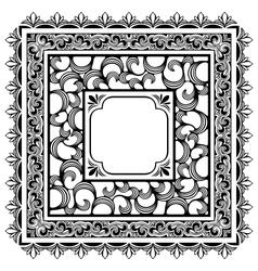 square borders vector image