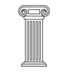 Roman column icon outline style vector