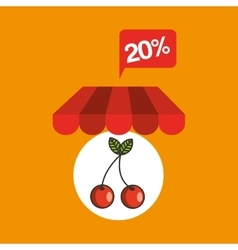 Tasty cherry discount shop online icon vector