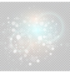 Bokeh light gray sparkles on transparency vector