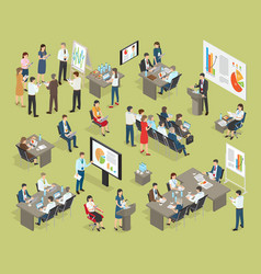 Business coaching collection in office vector