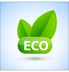Eco sign with green spring leafs vector