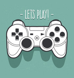 joystick art vector image