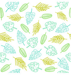 Simple outline leafs vector