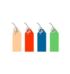 Colored Tags Strings vector image