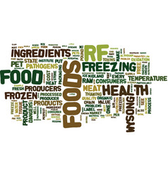 The case against raw frozen pet foods text vector